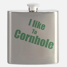 I Like To Cornhole Flask