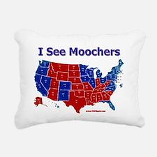 I see moochers Rectangular Canvas Pillow