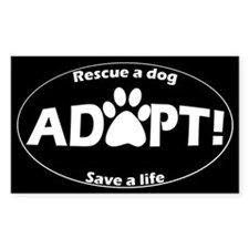 Adopt Decal (White on Black) Decal