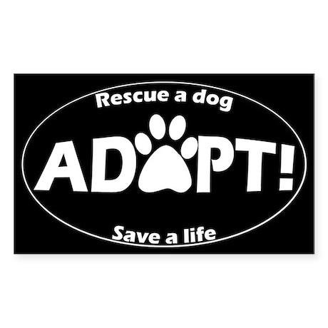 Adopt Sticker (White on Black) Sticker