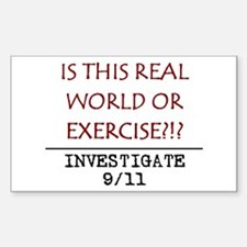 9/11: REAL WORLD? Rectangle Decal