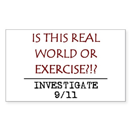 9/11: REAL WORLD? Rectangle Sticker
