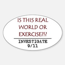 9/11: REAL WORLD? Oval Decal