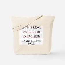 9/11: REAL WORLD? Tote Bag