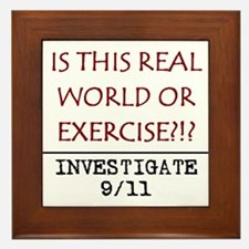 9/11: REAL WORLD? Framed Tile