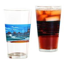 Huntington Beach Pier CIrca 1983 Drinking Glass