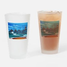 Huntington Beach Pier CIrca 1983 Drinking Glass