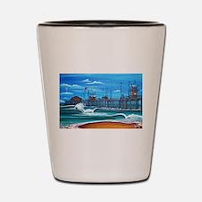 Huntington Beach Pier CIrca 1983 Shot Glass
