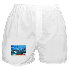 Huntington Beach Pier CIrca 1983 Boxer Shorts