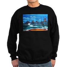 Huntington Beach Pier CIrca 1983 Sweatshirt