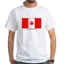 """Weed Canada"" White T-shirt"