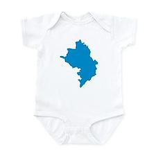 Azerbaijan map Infant Bodysuit