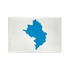 Azerbaijan map Rectangle Magnet