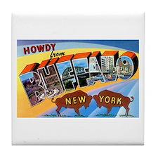 Buffalo New York Greetings Tile Coaster