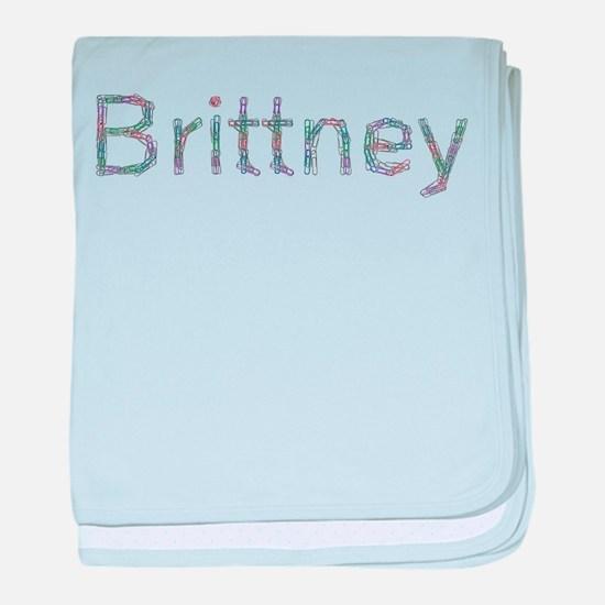 Brittney Paper Clips baby blanket