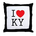 I love KY Throw Pillow