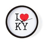 I love KY Wall Clock