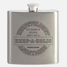 I am a Herp-A-Holic Flask