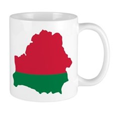 Belarus map flag Mug