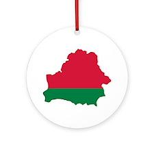 Belarus map flag Ornament (Round)