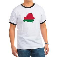 Belarus map flag T