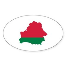 Belarus map flag Decal