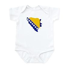 Bosnia and Herzegovina map flag Infant Bodysuit