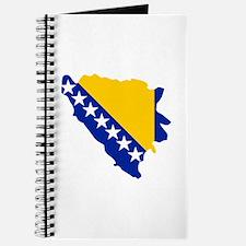 Bosnia and Herzegovina map flag Journal