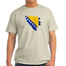 Bosnia and Herzegovina map flag T-Shirt