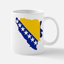 Bosnia and Herzegovina map flag Mug