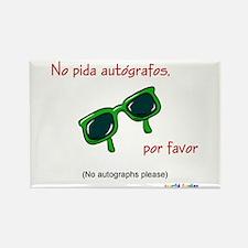 No Autographs Please (Spanish) Rectangle Magnet