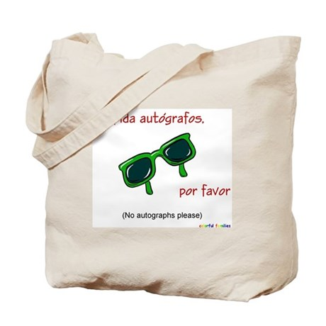 No Autographs Please (Spanish) Tote Bag