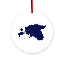 Estonia map Ornament (Round)