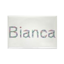 Bianca Paper Clips Rectangle Magnet