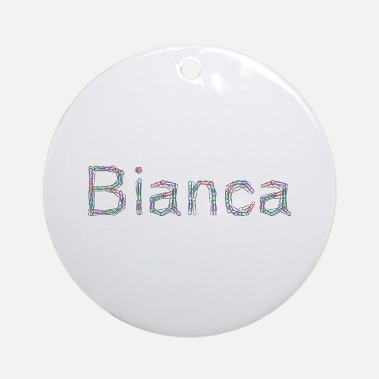 Bianca Paper Clips Round Ornament
