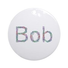 Bob Paper Clips Round Ornament