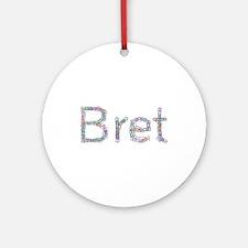 Bret Paper Clips Round Ornament