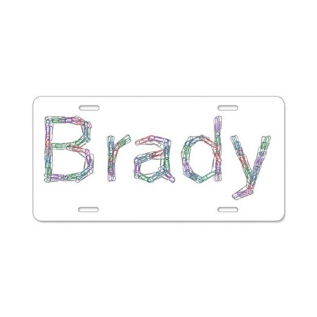 Brady Paper Clips Aluminum License Plate by namestuff