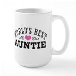 World's Best Auntie Large Mug