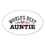 World's Best Auntie Sticker (Oval)
