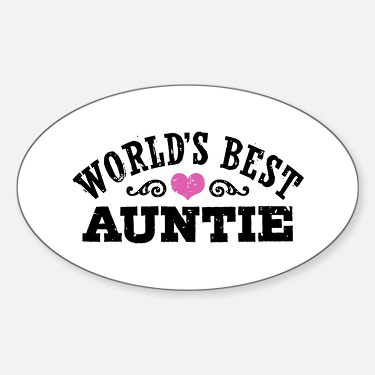 World's Best Auntie Decal