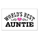World's Best Auntie Sticker (Rectangle)