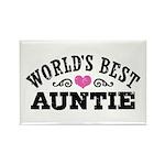World's Best Auntie Rectangle Magnet