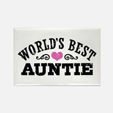 World's Best Auntie Rectangle Magnet