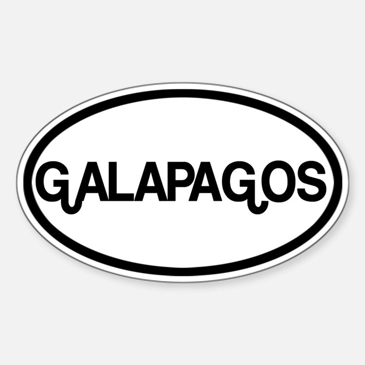 Galapagos Sticker (Oval)
