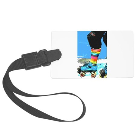 colorful skate Large Luggage Tag