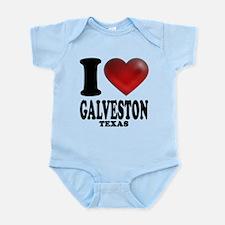 I Heart Galveston, Texas Infant Bodysuit