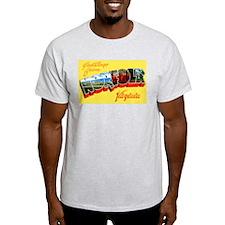 Norfolk Virginia Greetings (Front) Ash Grey T-Shir