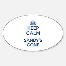Keep Calm Sandy's Gone Decal