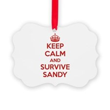 Keep Calm and Survive Sandy Ornament